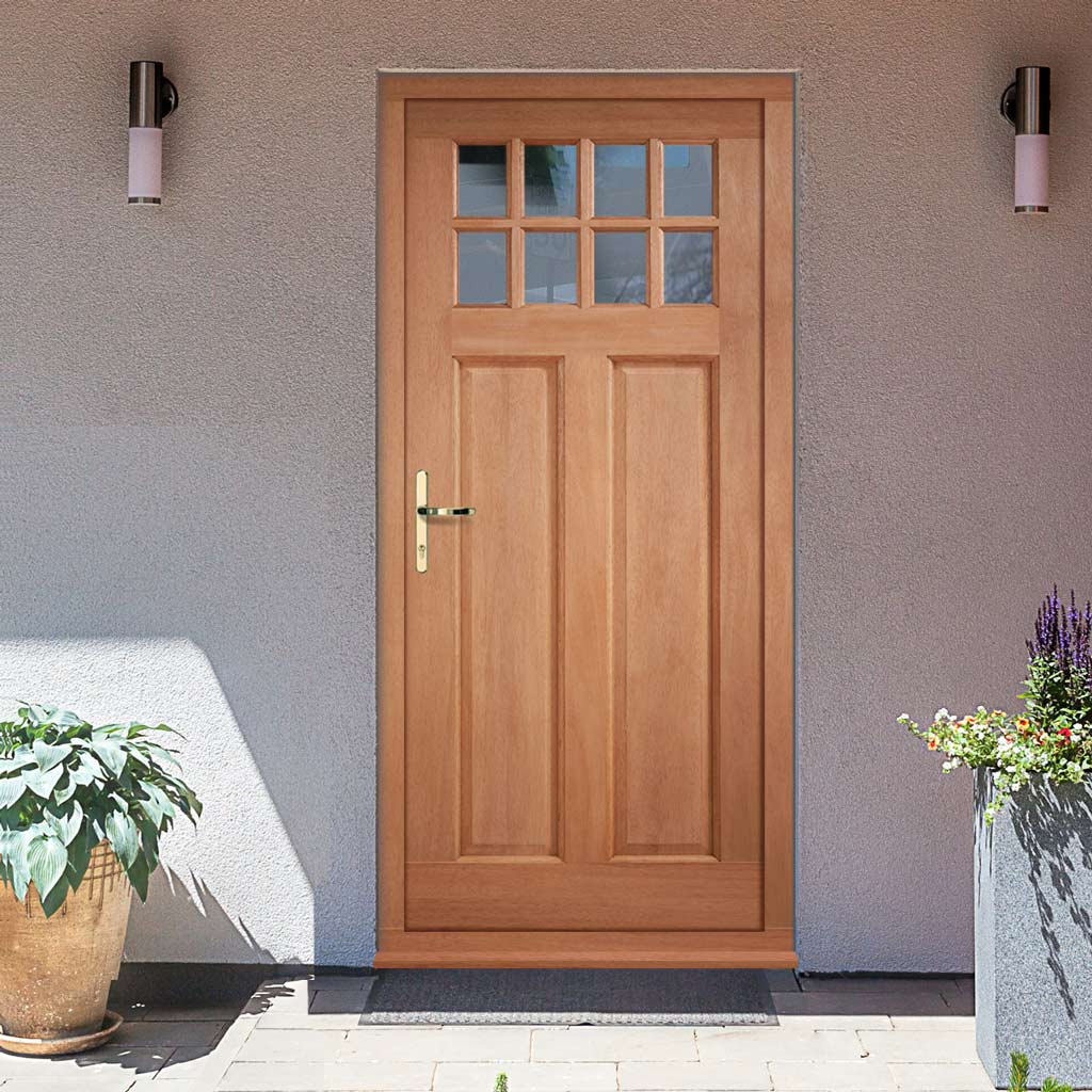 Chigwell External Hardwood Door and Frame Set - Clear Double Glazing