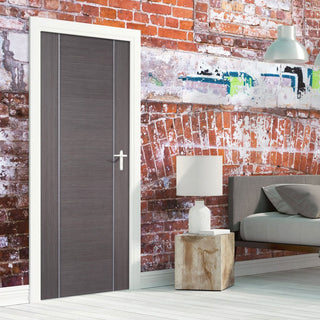 Image: Chocolate Grey Alcaraz Door - Prefinished