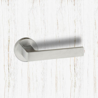 Image: CleanTouch Forme Asti on Round Rose with Anti-Bacterial Coating - Satin Chrome