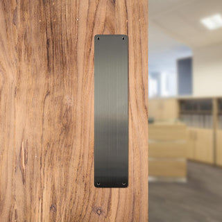 Image: CleanTouch Finger Plate with Anti-Bacterial Coating - Satin Stainless Steel