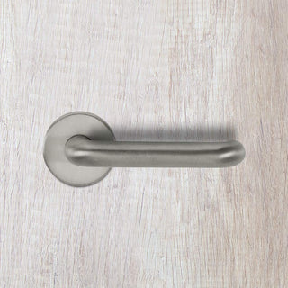 Image: CleanTouch RTD Lever on Round Rose Set with Anti-Bacterial Coating - Satin Chrome