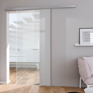 Image: Single Glass Sliding Door - Moor 8mm Clear Glass - Planeo 60 Pro Kit