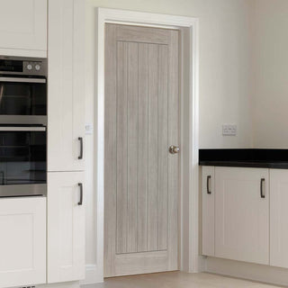 Image: J B Kind Laminates Colorado Grey Coloured Fire Door - 1/2 Hour Fire Rated - Prefinished