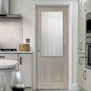 Image: Modern interior grey door