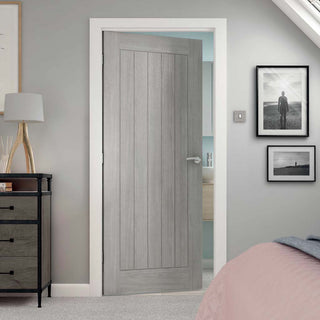 Image: J B Kind Laminates Colorado Grey Coloured Door - Prefinished