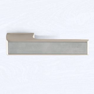 Image: Tupai Rapido VersaLine Tobar Lever on Long Rose - Satin Stainless Steel Decorative Plate - Pearl Nickel