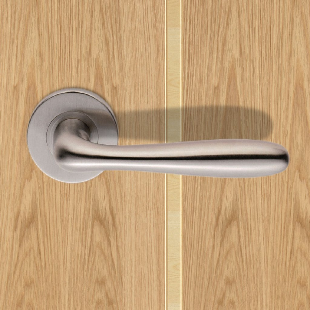 Steelworx CSL1127 Lever Latch Handles on Sprung Rose