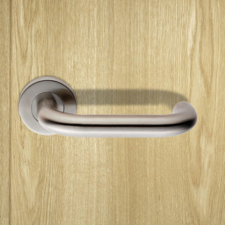 Image: Steelworx CSL1190 Lever Latch Handles on Sprung Rose - 2 Finishes