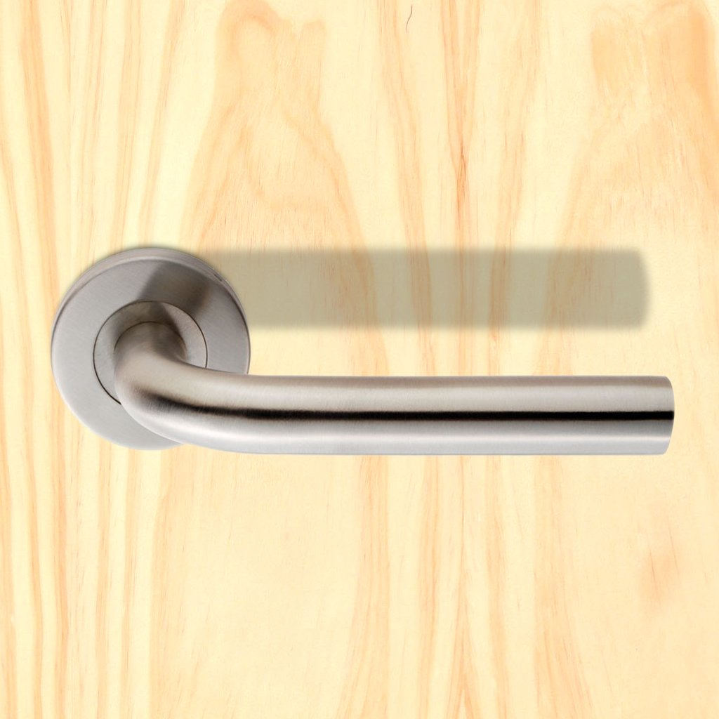 Steelworx CSL1191 Lever Latch Handles on Sprung Rose