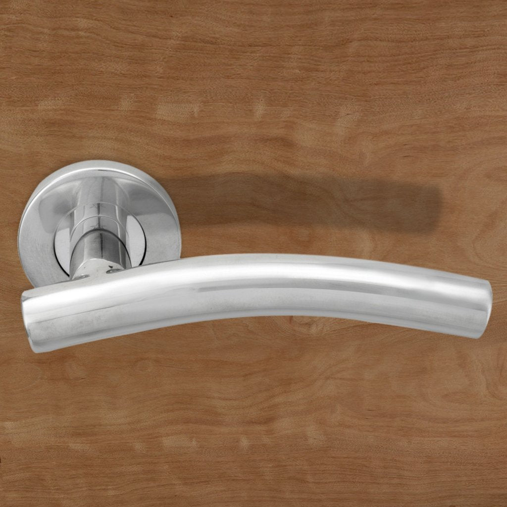Steelworx CSL1193 Lever Latch Handles on Sprung Rose - 2 Finishes