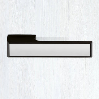 Image: Tupai Rapido VersaLine Tobar Lever on Long Rose - Polished Stainless Steel Decorative Plate - Pearl Black