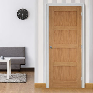 Image: Bespoke Contemporary 4P Oak Door
