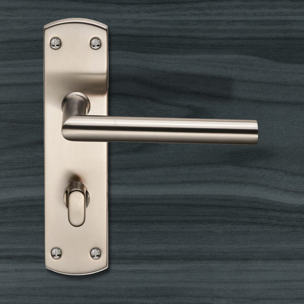 Steelworx CSLP1162T Mitred Bathroom Lever Lock Handles - 2 Finishes