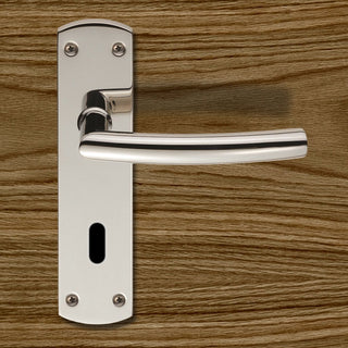 Image: Steelworx CSLP1167P Arched Lever Lock Handles - 2 Finishes
