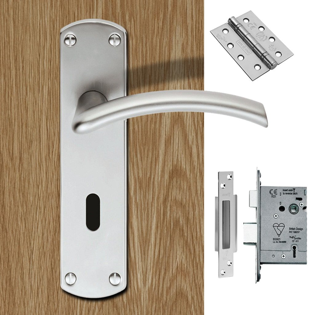 Serozzetta Tres SZC031SC Lever Lock Satin Chrome Handle Pack