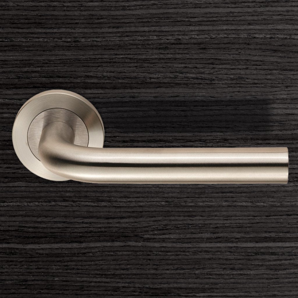Steelworx SWL1191 Spira Lever Latch Handles on Round Rose