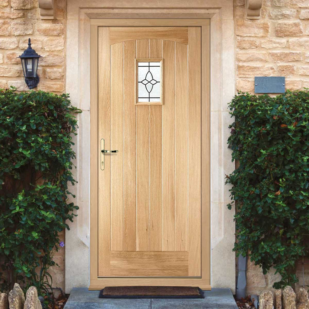 Cottage Exterior Oak Door and Frame Set - Bevel Tri Glazing, From LPD Joinery