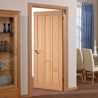 Image: Fire Door, Coventry Contemporary Oak Panel - 30 Minute Fire Rated