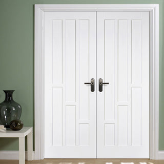 Image: Coventry Panel Door Pair - White Primed