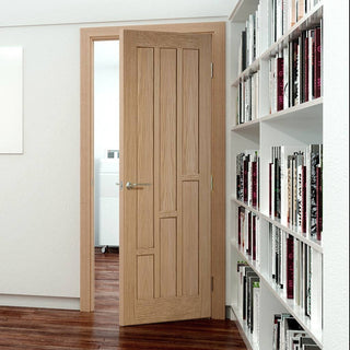 Image: Bespoke Coventry Contemporary Oak Panel Door