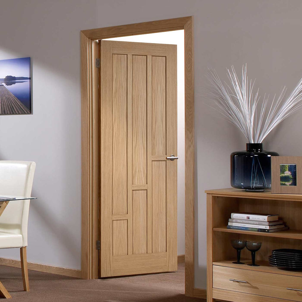 Door and Frame Kit - Coventry Contemporary Oak Panelled Door