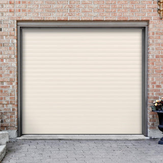 Image: Gliderol Electric Insulated Roller Garage Door from 1900 to 2134mm Wide - Cream
