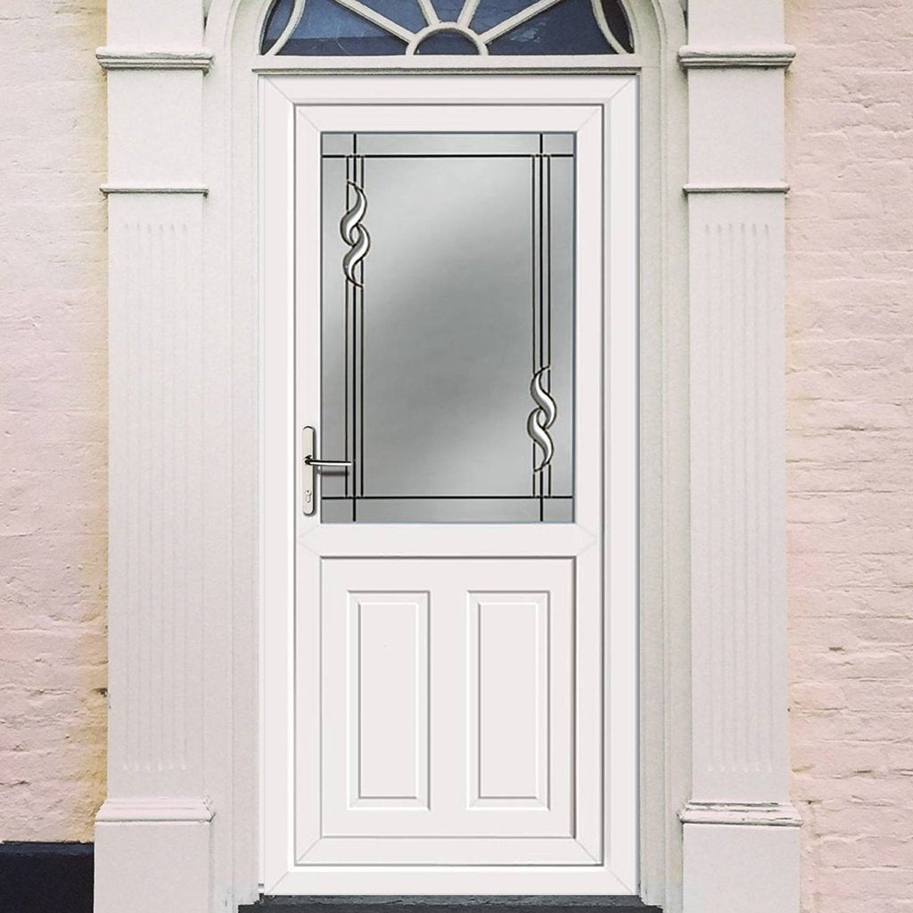External UPVC Dundee Half Panel - Crystalline Glass Door