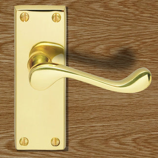 Image: CBS55 Victorian Lever Latch Handles, Contract Range - 3 Finishes
