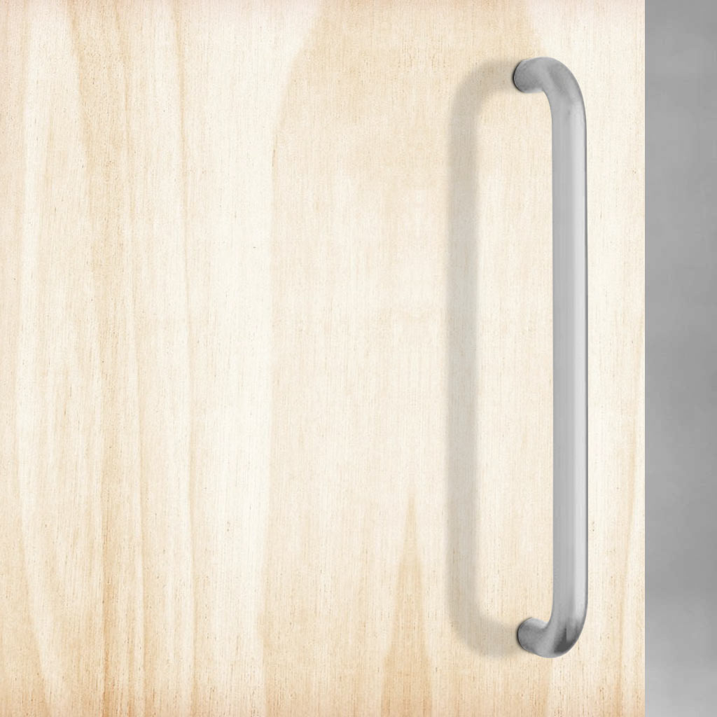 D Pull Handles (Pair) in Satin Stainless Steel Finish 300mm