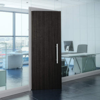 Image: Bespoke Fire Door - Flush American Dark Grey Ash Veneer - 30 Minute Fire Rated - Prefinished