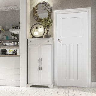 Image: Bespoke Cambridge White Primed Period Door