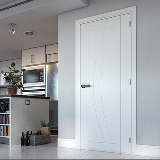 Image: Bespoke Ravello White Primed Flush Door