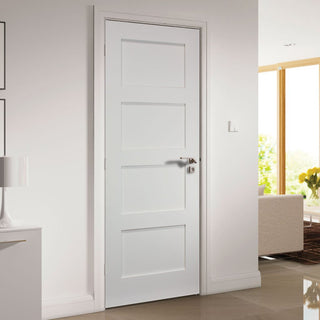 Image: Deanta Coventry White Primed Shaker Door
