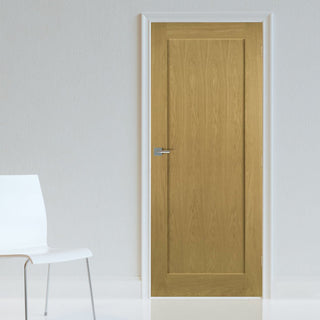 Image: Walden Oak Fire Door - 1/2 Hour Fire Rated - Unfinished