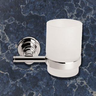 Image: Deleau Mezzo Single Tumbler Holder - Chrome Plated