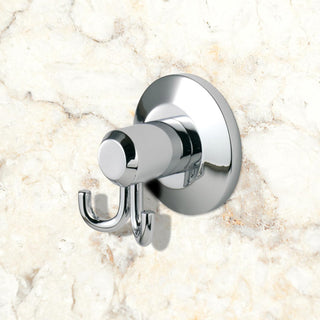 Image: Deleau Tempo Double Robe Hook - Chrome Plated