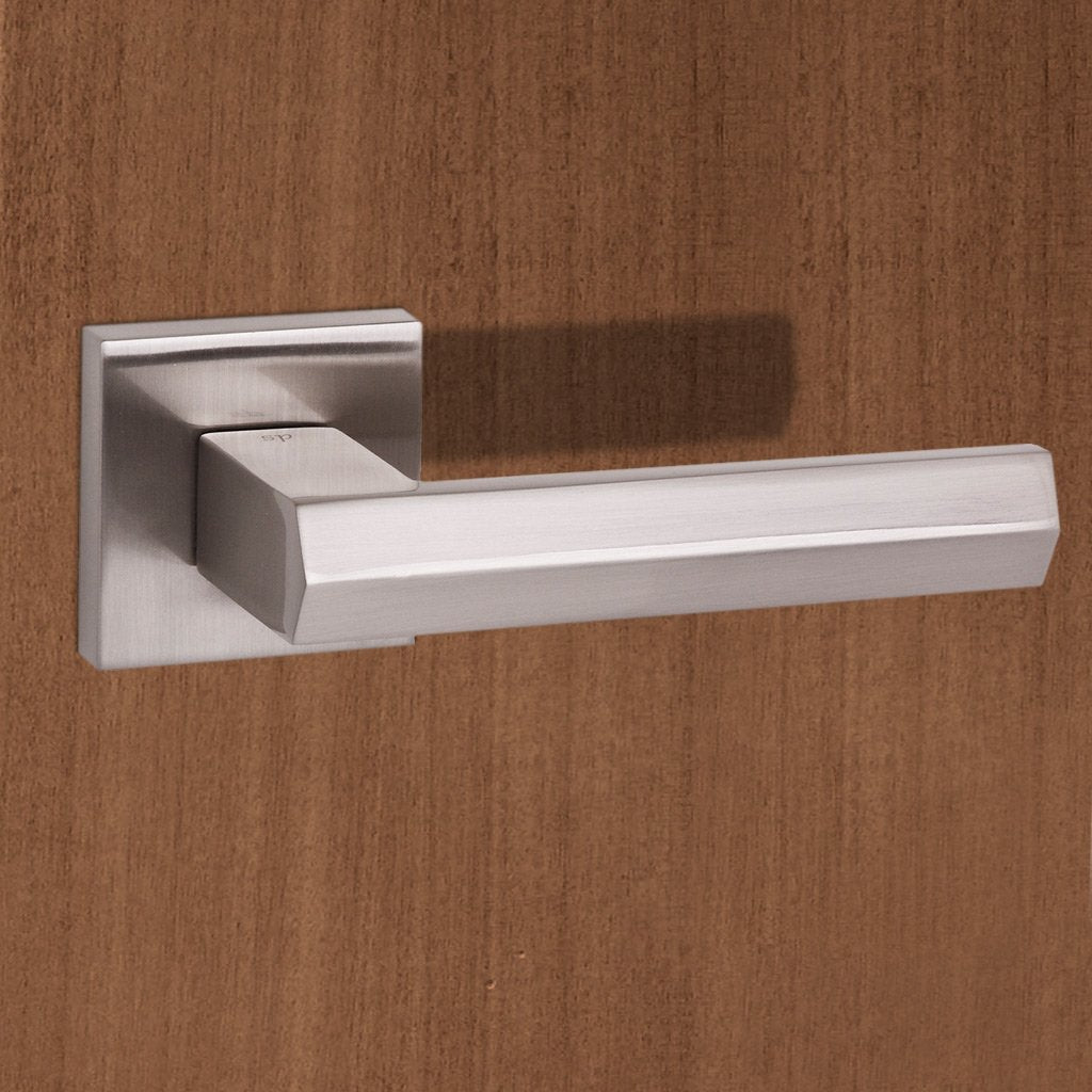 Senza Pari Davoli Lever on Flush Rose - Satin Nickel