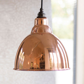 Image: Hammered Copper Brindley Pendant Ceiling Light Fitting