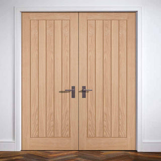 Image: Belize Oak Door Pair