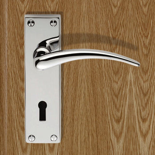 Image: DL64 Wing Lever Lock Door Handles - 2 Finishes