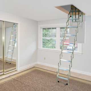 Image: Dolle Aluminium Loft Ladder - Alufix 10 treads - Min - Max Ceiling Height 2460mm - 2730mm