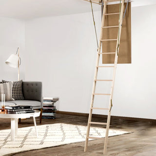 Image: Dolle Wooden Loft Ladder - ClickFix 36 Lux Mini 925 x 600mm - Insulated Door, Max Ceiling Height 2780mm