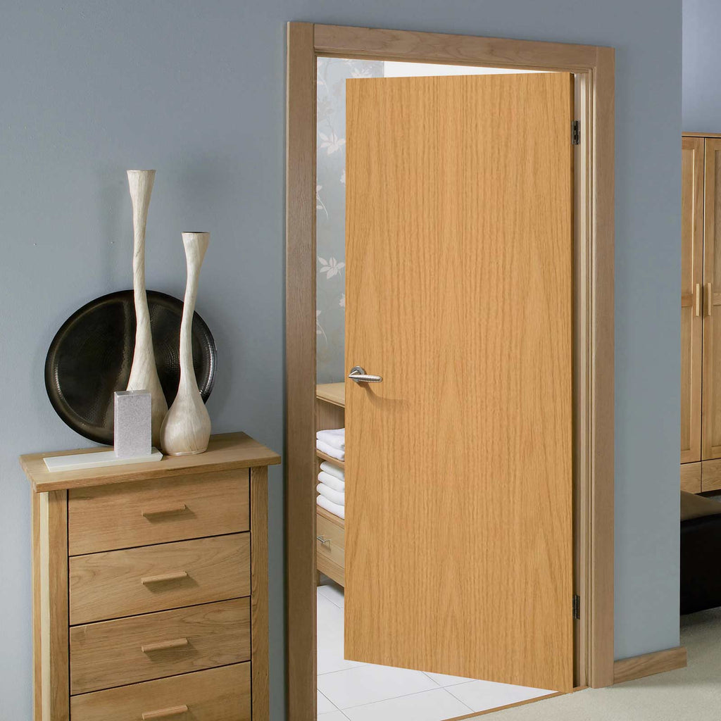 oak primed flush door blank