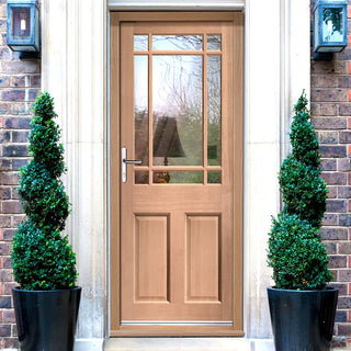 Image: Warwick Exterior Mahogany Door - Fit Your Own Glass