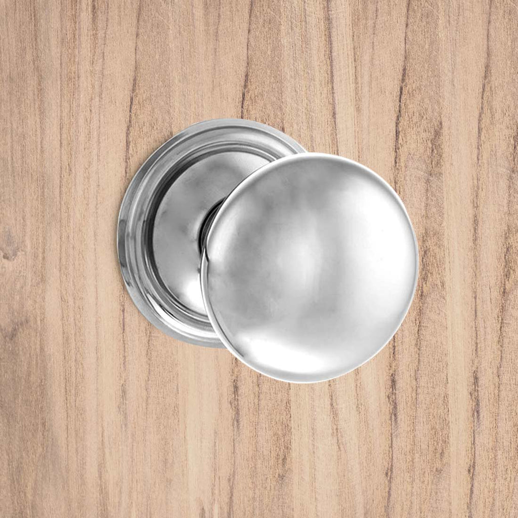 Harrogate Mushroom Old English Mortice Knob - Polished Chrome