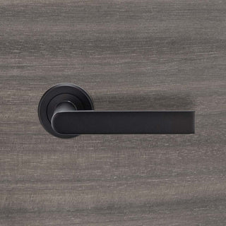 Image: Serozzetta Edge SZM210 Lever Latch Handles on Round Rose - 2 Finishes