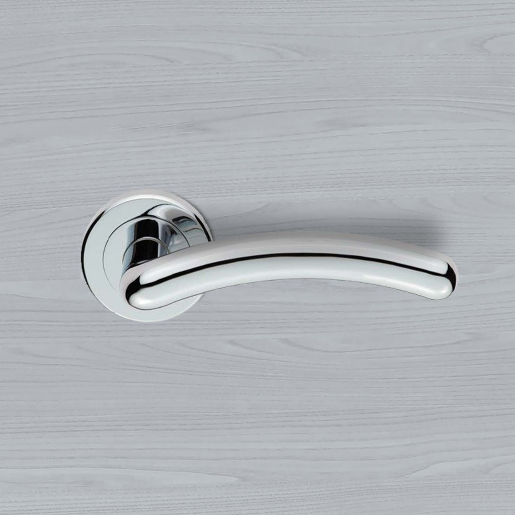 Serozzetta Noxia ZIN3003 Lever Latch Handles on Round Rose - 2 Finishes