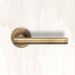 Image: Serozzetta Philadelphia ZIN3121 Lever Latch Handles on Round Rose - 2 Finishes