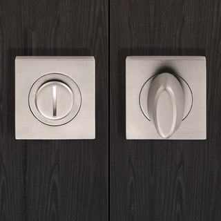 Image: Serozzetta SZM004SQ Bathroom Thumb Turn & Release - 2 Finishes