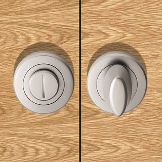 Image: Serozzetta ZET3005 Bathroom Thumb Turn & Release - 2 Finishes
